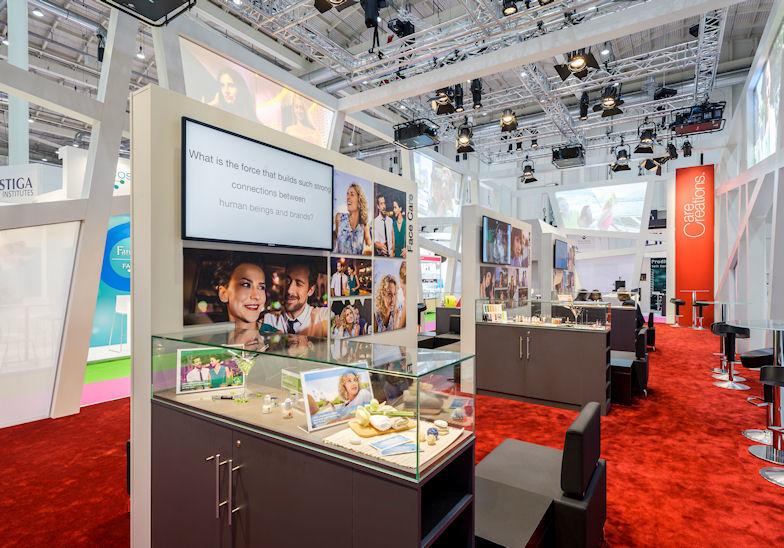 Aufnahme des BASF Messestandes von der In-Cosmetics 2014 in Hamburg